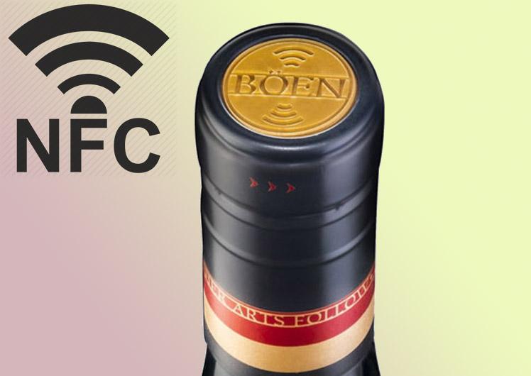 NFC на пробках вин